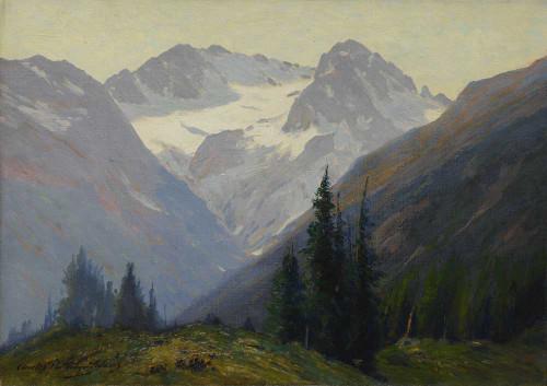 Art prints of The Arapahoe Peaks, Colorado by Charles Partridge Adams