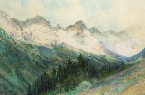 Art prints of The Colorado Rockies by Charles Partridge Adams