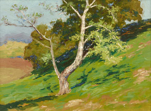 Art prints of Tree on a Mountainside by Charles Partridge Adams
