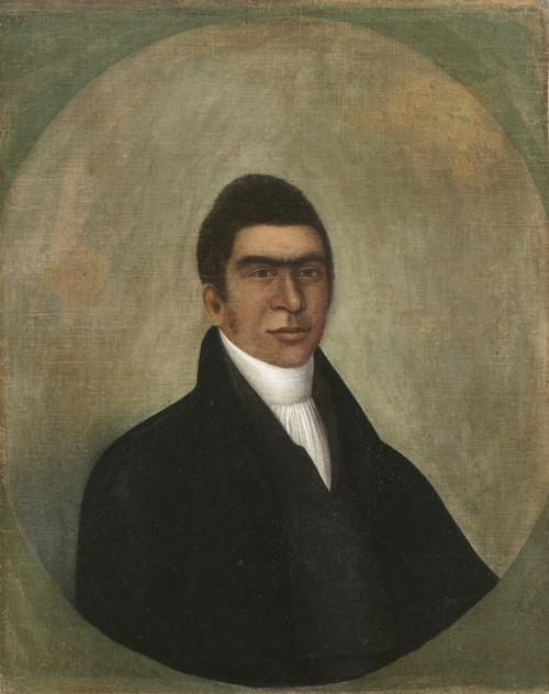 Art prints of Portrait of a Man, Abner Coker by Joshua Johnson