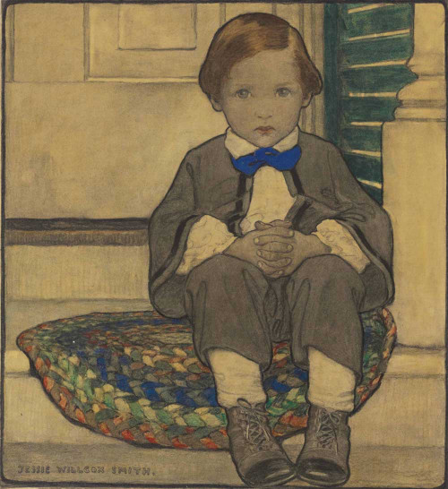 Art prints of When Daddy was a Little Boy by Jessie Willcox Smith