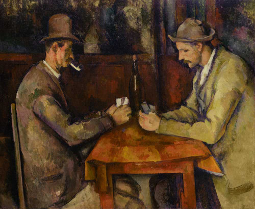 Art prints of The Card Players I by Paul Cezanne