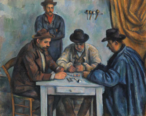 Art prints of The Card Players III by Paul Cezanne