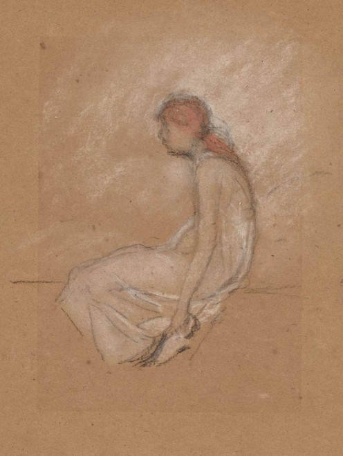 Art prints of Seated Woman with Red Hair by James Abbott McNeill Whistler