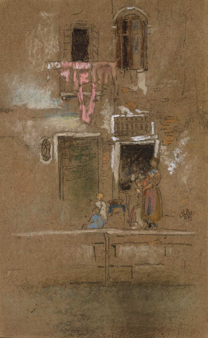 Art prints of Note in Pink and Brown by James Abbott McNeill Whistler