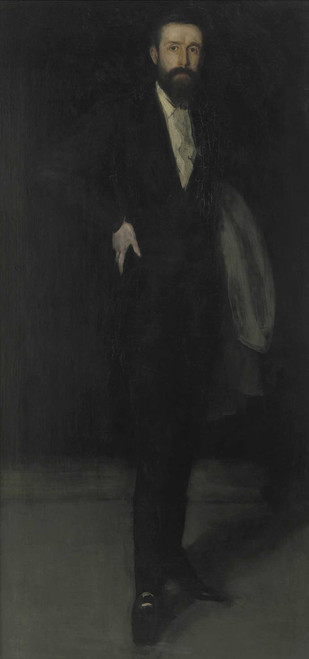 Art prints of Arrangement in Black, Portrait of F. R. Leyland by James Abbott McNeill Whistler