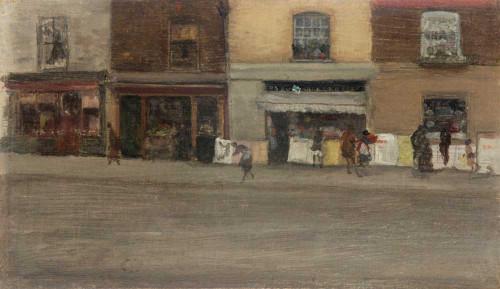 Art prints of Chelsea Shops by James Abbott McNeill Whistler