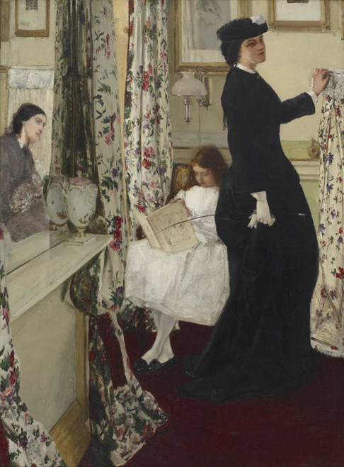 Art prints of Harmony in Green and Rose, the Music Room by James Abbott McNeill Whistler