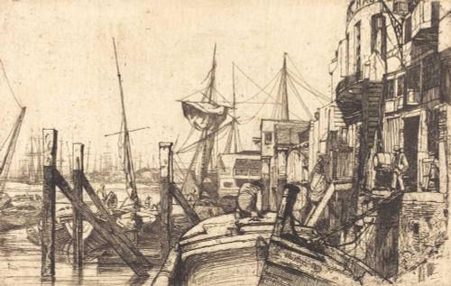 Art prints of Limehouse by James Abbott McNeill Whistler