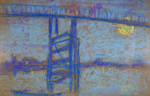 Art prints of Nocturne, Battersea Bridge by James Abbott McNeill Whistler