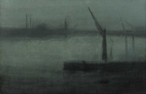 Art prints of Nocturne, Blue and Silver, Battersea Reach by James Abbott McNeill Whistler