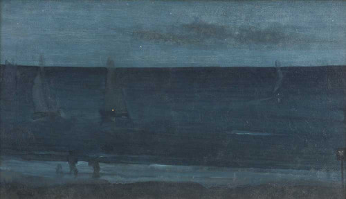 Art prints of Nocturne, Blue and Silver, Bognor by James Abbott McNeill Whistler