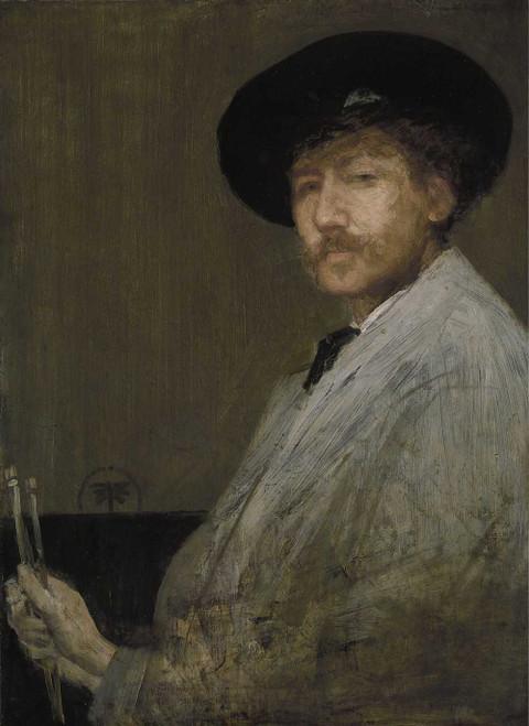 Art prints of Self Portrait by James Abbott McNeill Whistler