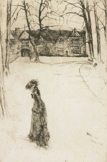 Art prints of Speke Hall, the Avenue by James Abbott McNeill Whistler