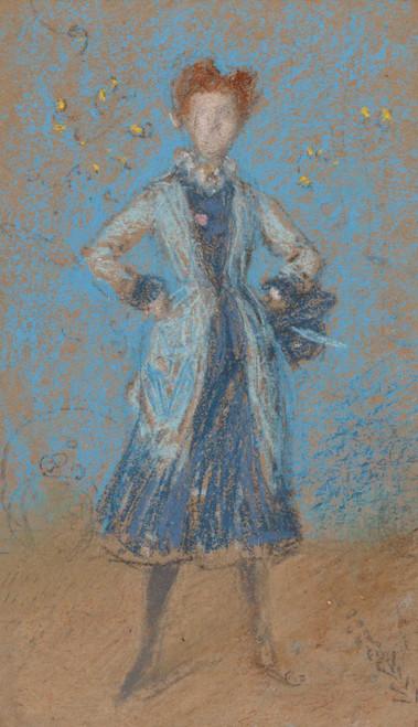 Art prints of The Blue Girl by James Abbott McNeill Whistler