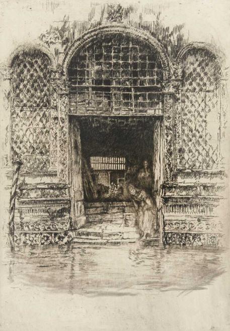Art prints of The Doorway by James Abbott McNeill Whistler