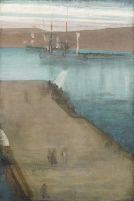 Art prints of Valparaiso Harbor by James Abbott McNeill Whistler