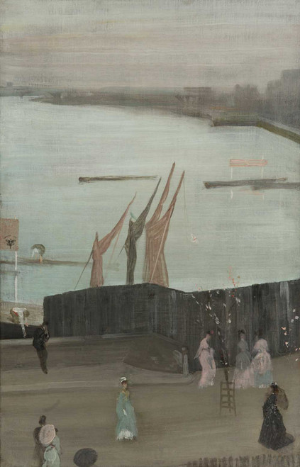 Art prints of Variations in Pink and Grey, Chelsea by James Abbott McNeill Whistler