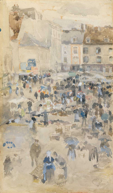 Art prints of Variations in Violet and Grey, Market Place, Dieppe
