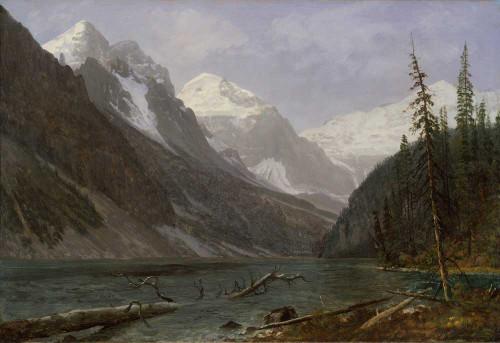 Art prints of Canadian Rockies, Lake Louise by Albert Bierstadt