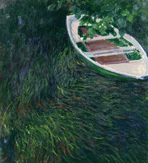 Art prints of La Barque or The Rowboat by Claude Monet