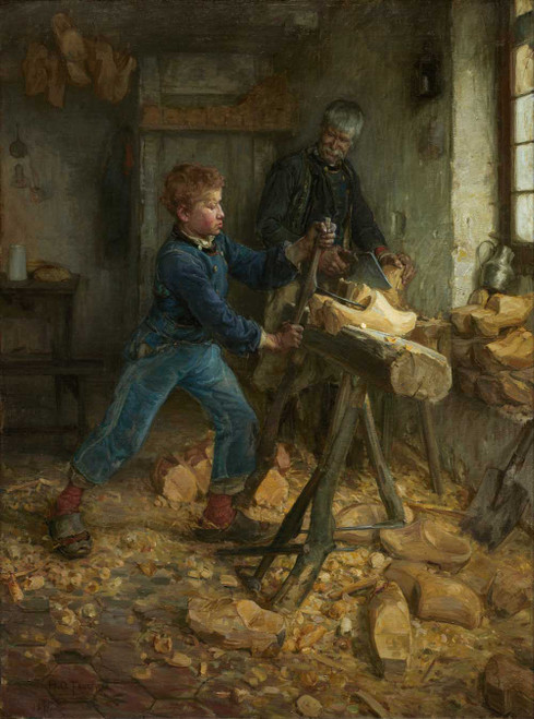 Art prints of The Young Sabot Maker by Henry Ossawa Tanner