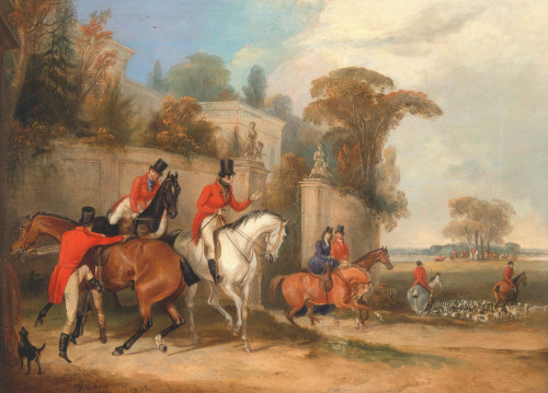 Art prints of Bachelors Hall, 1836, The Meet by Francis Calcraft Turner