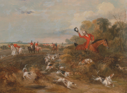 Art prints of Bachelors Hall, 1836, Capping on Hounds by Francis Calcraft Turner