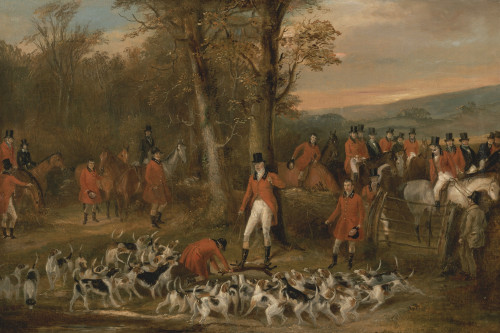 Art prints of The Berkeley Hunt, 1842, The Death by Francis Calcraft Turner