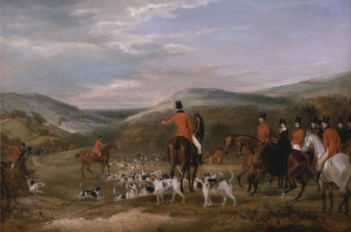 Art prints of The Berkeley Hunt, 1842, The Meet by Francis Calcraft Turner
