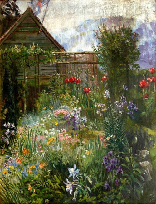 Art prints of A Garden in Spring by Anna Lea Merritt