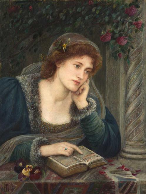 Art prints of Beatrice, 1895 by Marie Spartali Stillman