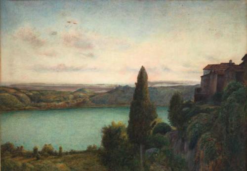 Art prints of The Lake of Nemi by Marie Spartali Stillman
