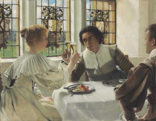 Art prints of The Pledge, 1904 by Laura Theresa Alma-Tadema
