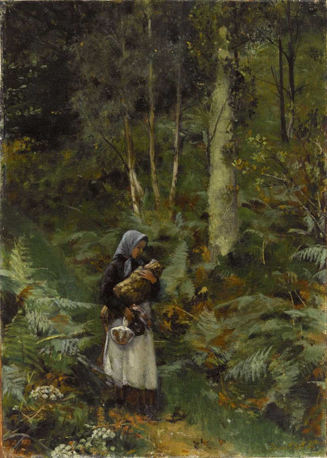 Art prints of With a Babe in the Woods by Laura Theresa Alma-Tadema