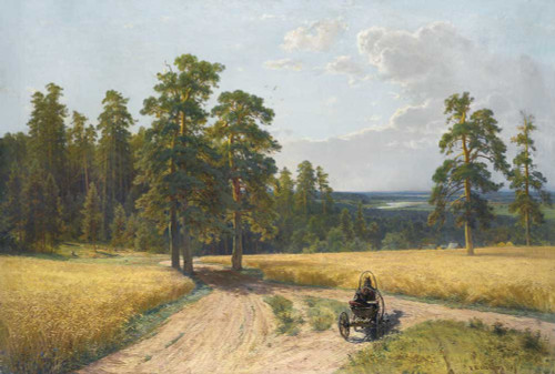 Art prints of At the Edge of the Pine Forest by Ivan Shishkin