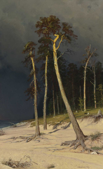 Art prints of Sandy Coastline by Ivan Shishkin