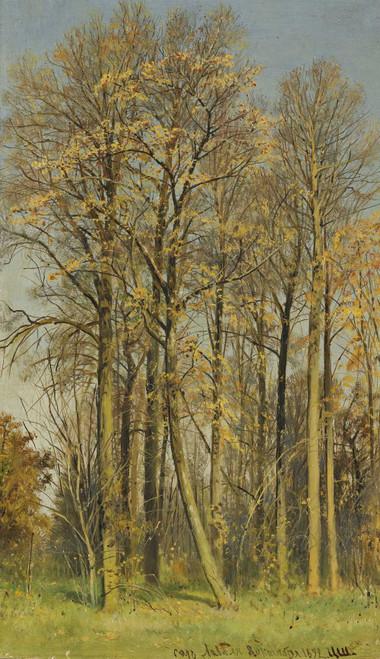 Art prints of Rowan Trees in Autumn by Ivan Shishkin