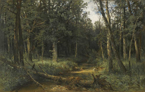 Art prints of The Dark Wood by Ivan Shishkin