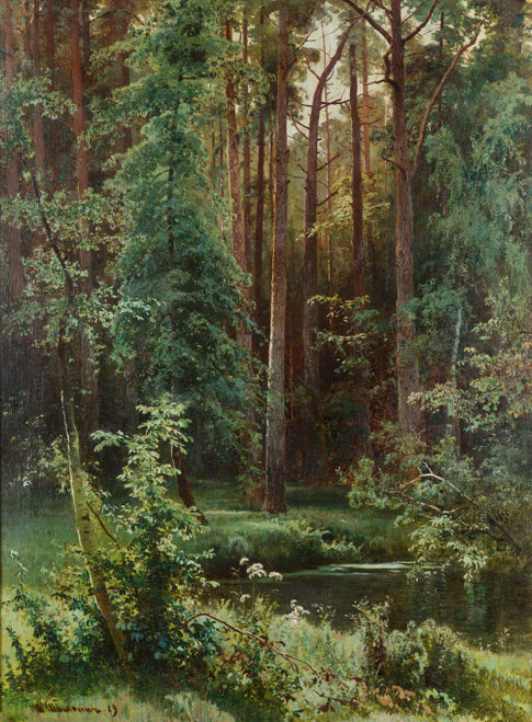 Art prints of Woodland by Ivan Shishkin