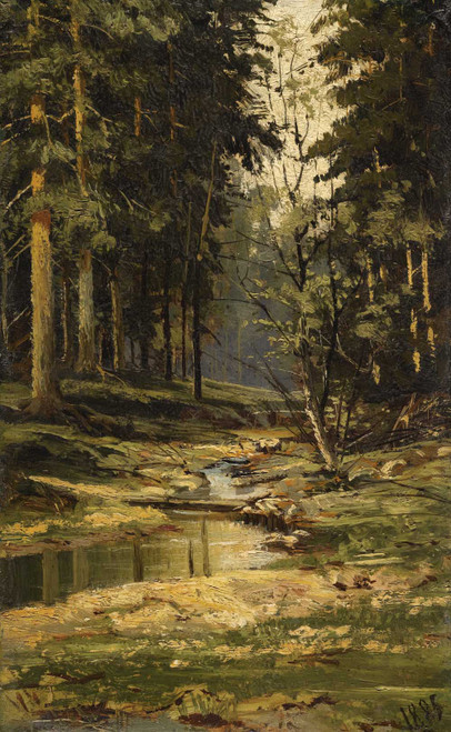 Art prints of The Forest Brook by Ivan Shishkin