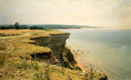 Art prints of Off the Coast of the Gulf of Finland (Udrias near Narva) by Ivan Shishkin