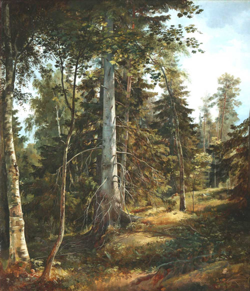 Art prints of Forest Thicket by Ivan Shishkin
