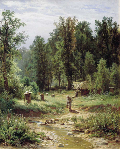 Art prints of An Apiary in the Forest by Ivan Shishkin