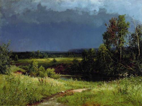 Art prints of Before a Thunderstorm by Ivan Shishkin