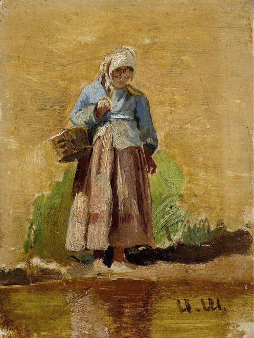 Art prints of Farmer's Wife by Ivan Shishkin
