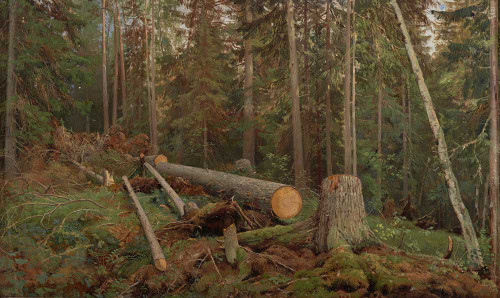 """Art prints of Study for the painting """"Lumbering"""" by Ivan Shishkin"""