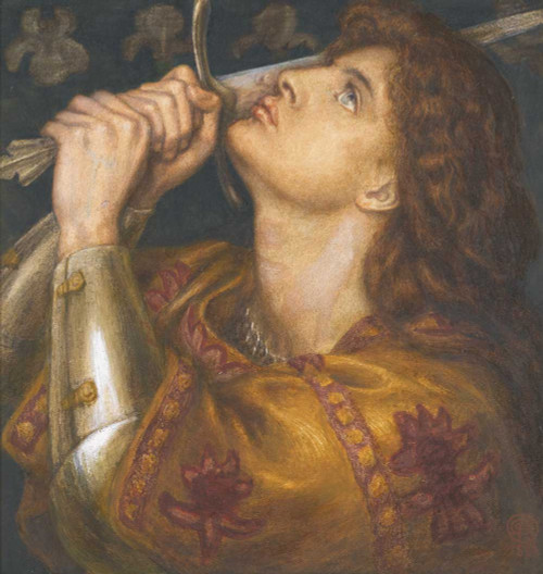 Art prints of Joan of Arc, 1864 by Dante Gabriel Rossetti