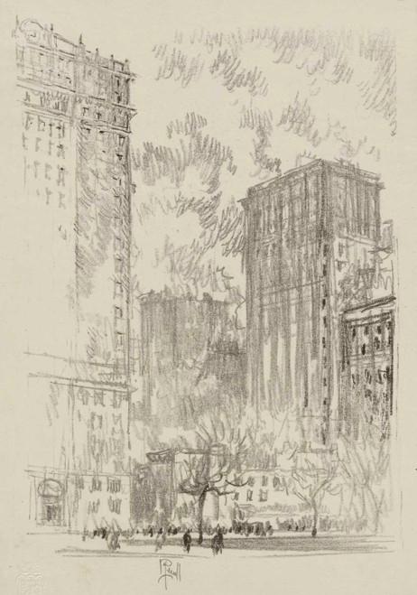 Art prints of Battery Park, New York by Joseph Pennell