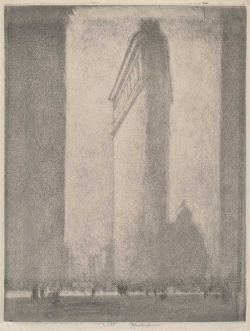 Art prints of The Flat Iron, New York, 1908 by Joseph Pennell